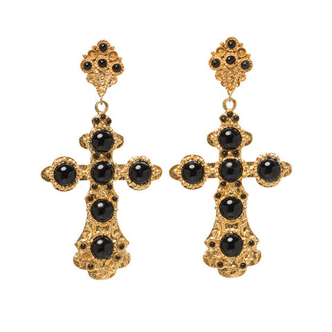 Nonia Earrings Black