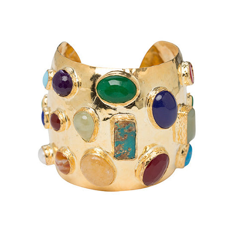 The Adonie Cuff Gold & Multi