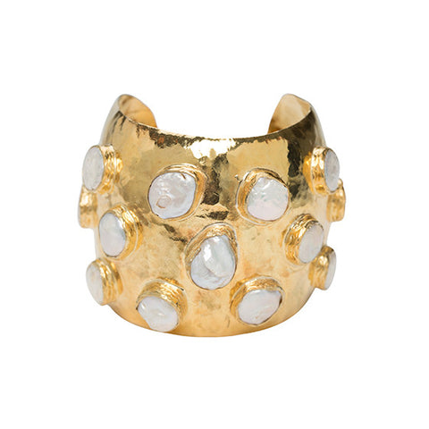 The Adonie Cuff Gold & Pearl