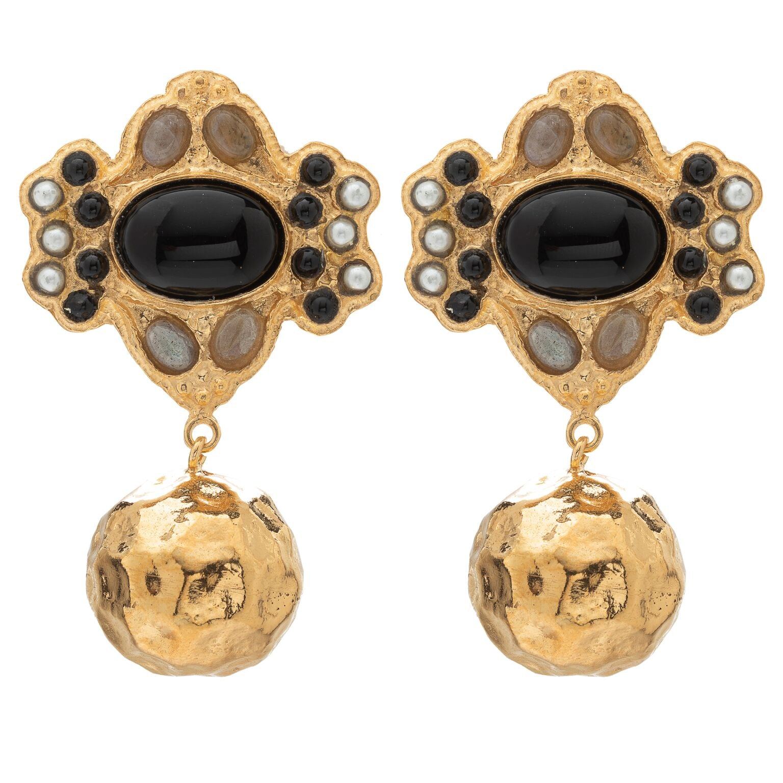Violetta Earrings Black