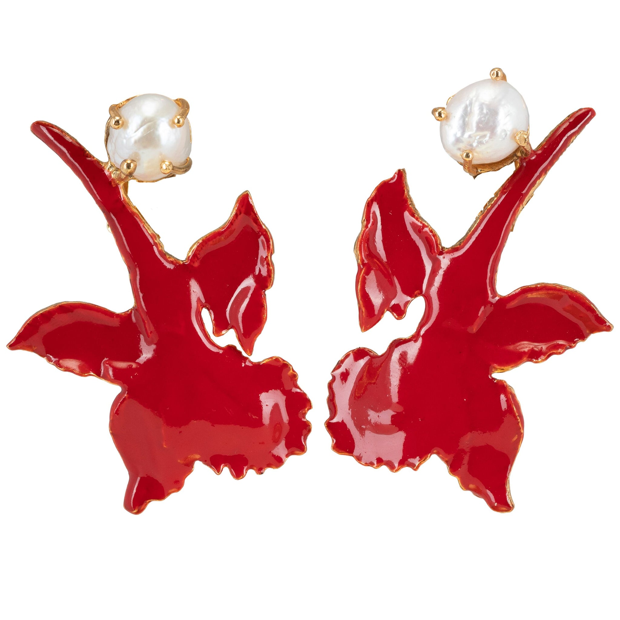 Chanel Earrings Red