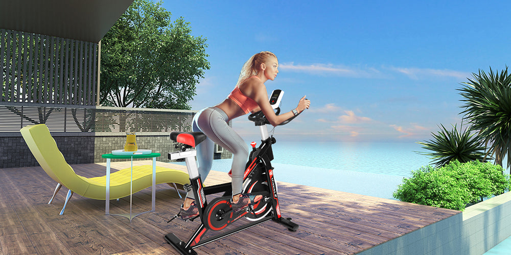 Indoor Fitness Exercise Bike Workout