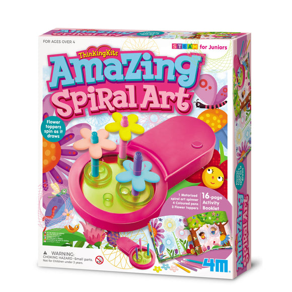 4M Amazing Spiral Art DIY Kit, STEAM Activities for Juniors