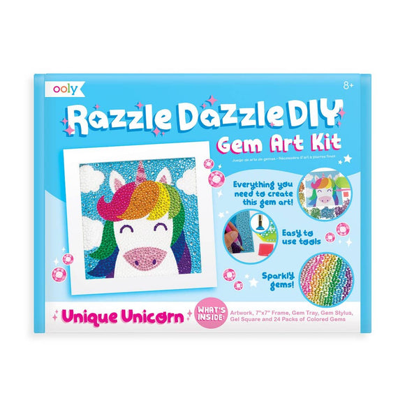 Razzle Dazzle D.IY. Gem Art Kit: Unique Unicorns