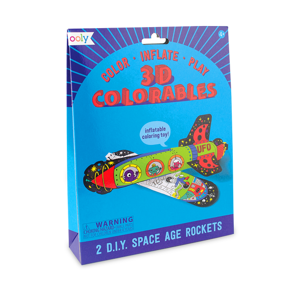 3D Colorables - Space Age Rockets (Set of 2)