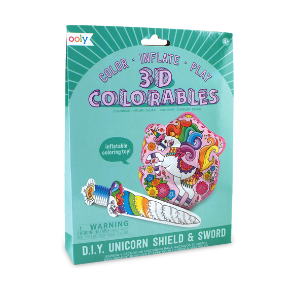 3D Colorables - Unicorn Shield and Sword Coloring