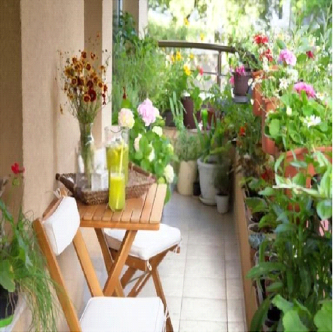 Appealing Balcony with Garden