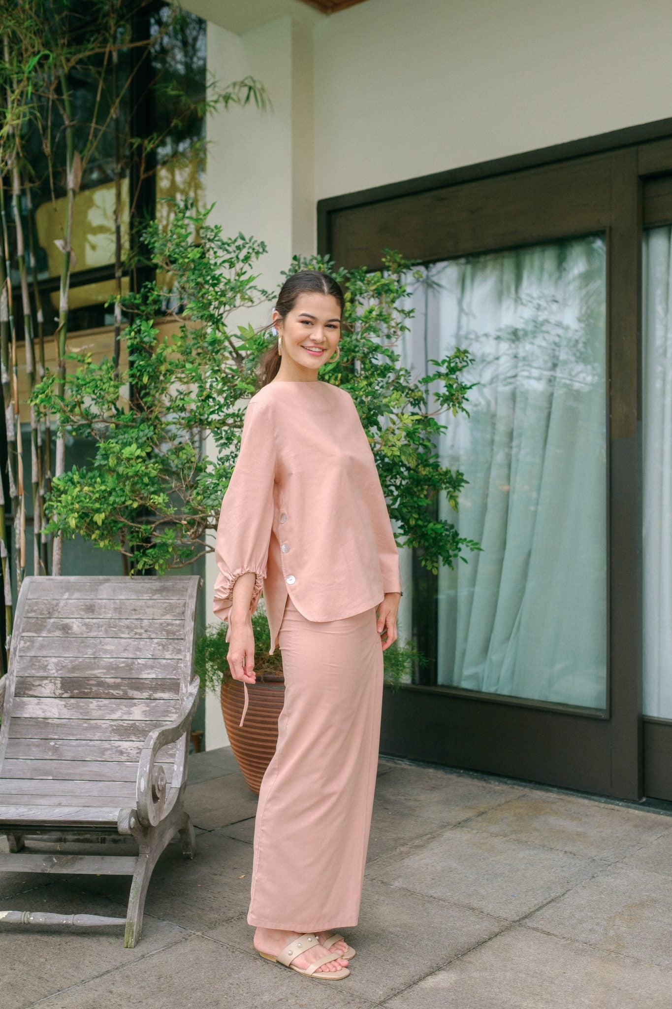 JEANNE KURUNG SET IN DUSTY PINK