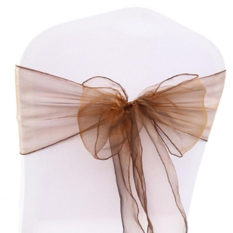 Location Noeud Organza Chocolat