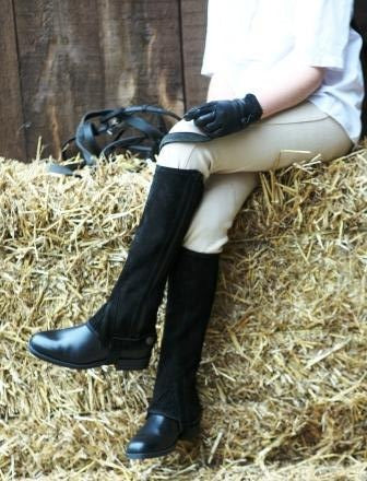 Tuffa Suede Half Chaps - Child - SAVE 27%