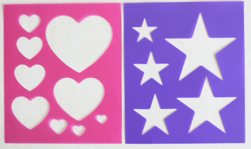Stars or Hearts Quarter Markers