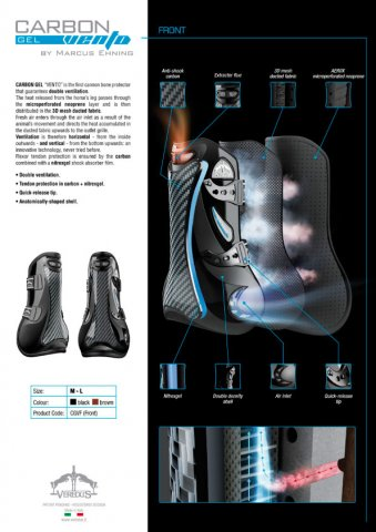 Veredus Carbon Gel Vento Tendon Boots