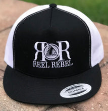 Load image into Gallery viewer, Reel Rebel 5 Panel Classic Trucker Hat Flatbill