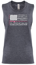 Load image into Gallery viewer, Ladies American Flag Muscle Tank