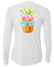"Load image into Gallery viewer, Ladies ""Just Chillin"" Pineapple UPF Performance Shirt"