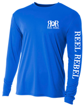 Load image into Gallery viewer, Reel Rebel UPF Performance Shirt with Nautical Compass