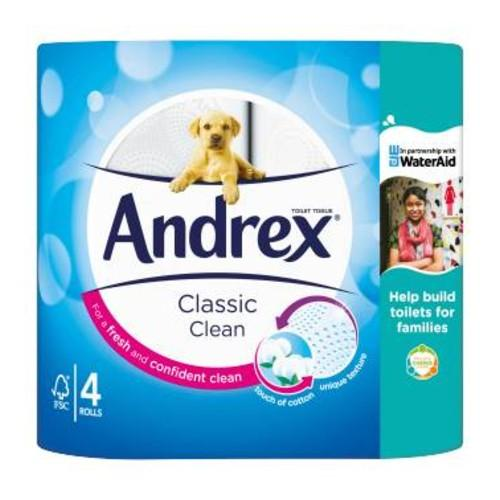 Andrex Toilet Tissue Classic Clean  4 Roll