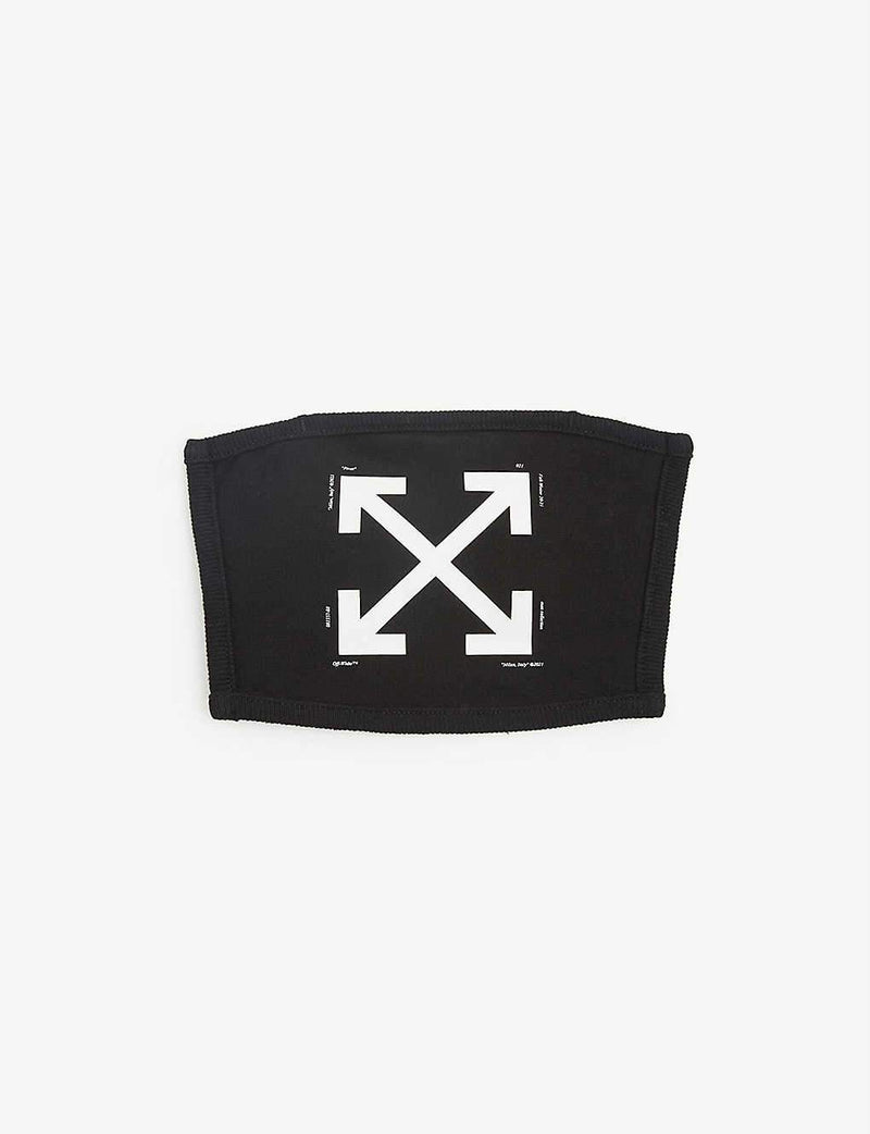 Off-White Arrow Print Face Covering