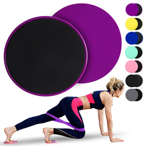 2PCS Exercise Core Sliders With Resistance Band Workout Fitness Gliding Discs Yoga Home Elastic HipTrainer Expander Equipment