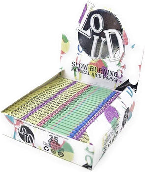 Loud Ldn Slow Burning Rice Papers King Size