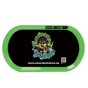 The worlds first light up LED Rolling Tray with Bluetooth Speaker