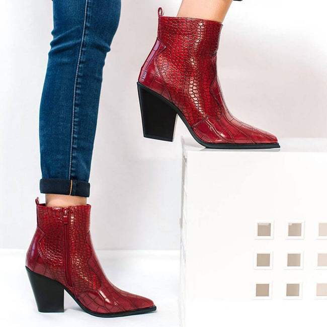 Cerise Ankle Boot