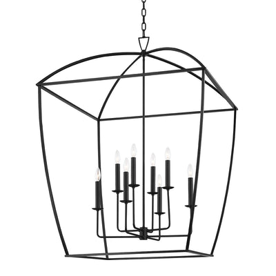 Large Iron Caged Chandelier