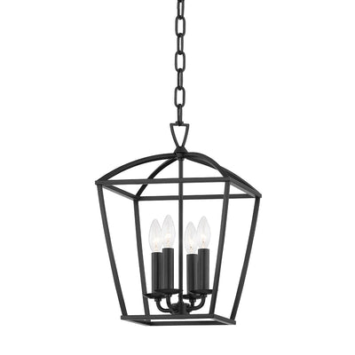 Black Cage 4 Light Pendant Light
