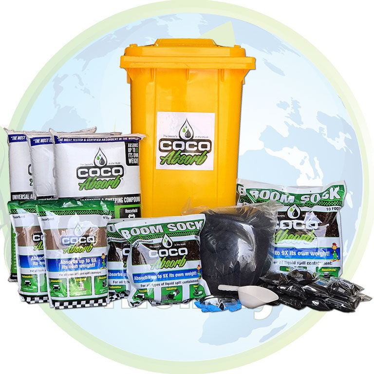 CocoAbsorb™ 65-Gallon Spill Kit on wheels