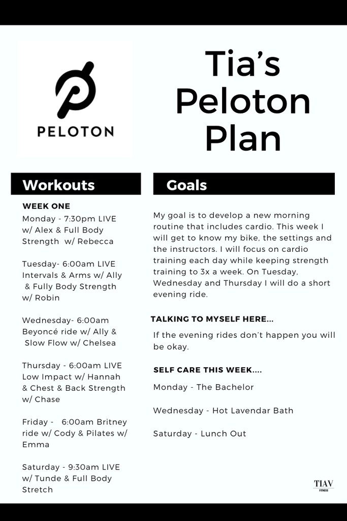 free spin class planner template