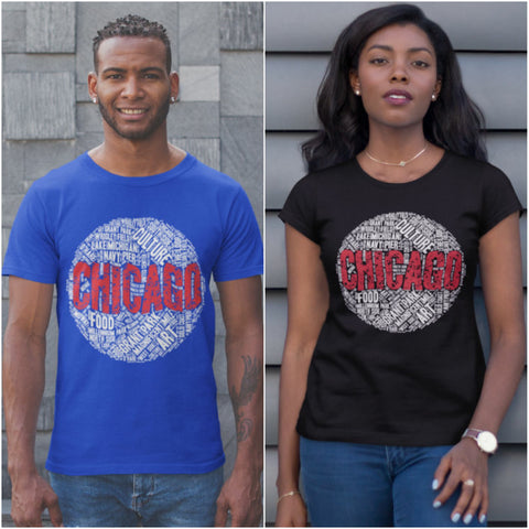 CHICAGO WORD CLOUD T-SHIRT