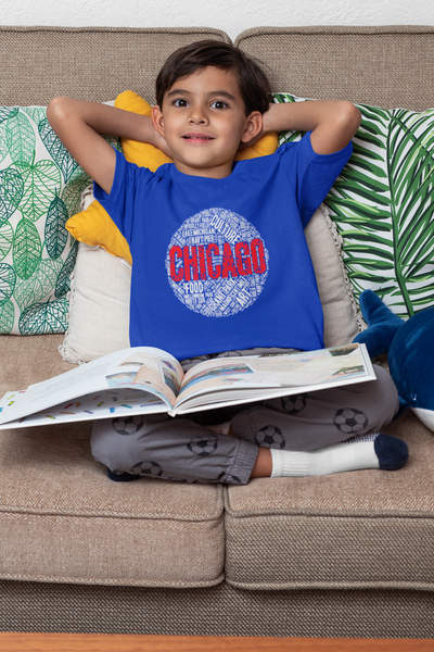 KIDS CHICAGO WORD CLOUD T-SHIRT