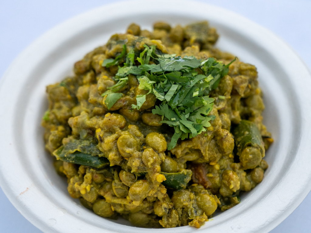 Pigeon pea and eggplant curry