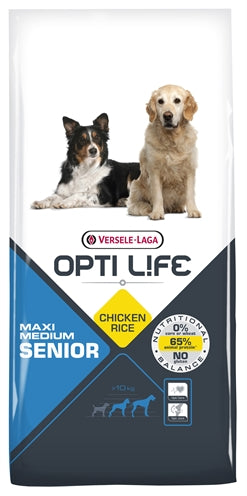 Opti Life Senior Medium/Maxi 12,5 KG - Stuff4Pets || Dutchdales