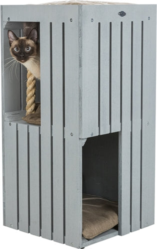 Trixie Be Nordic Cat Tower Juna Grijs 38X38X77 CM - Stuff4Pets || Dutchdales