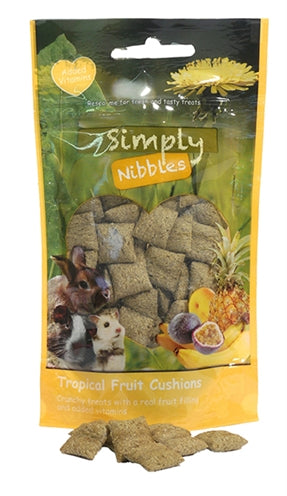 Rosewood Simply Nibbles Tropical Fruit Kussentjes 50 GR - Stuff4Pets || Dutchdales