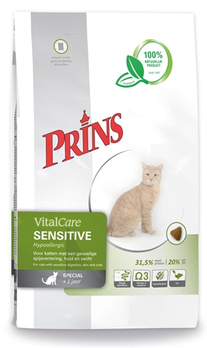 Prins Cat Vital Care Adult Sensitive Hypo Allergeen - Stuff4Pets || Dutchdales