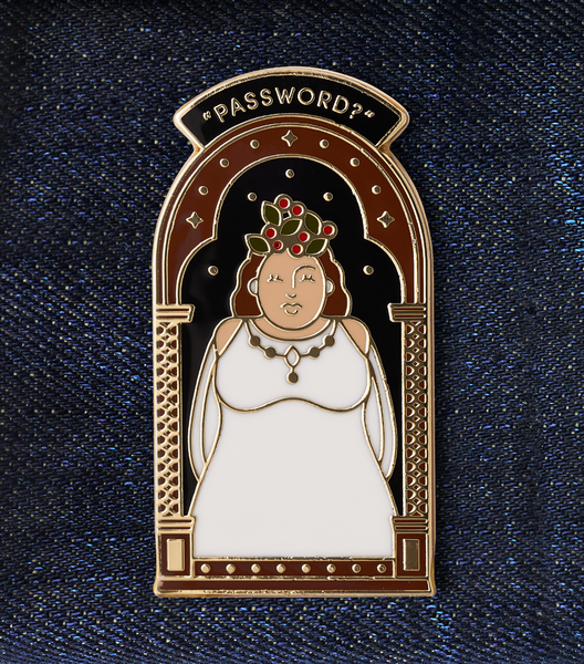 The Fat Lady Enamel Pin