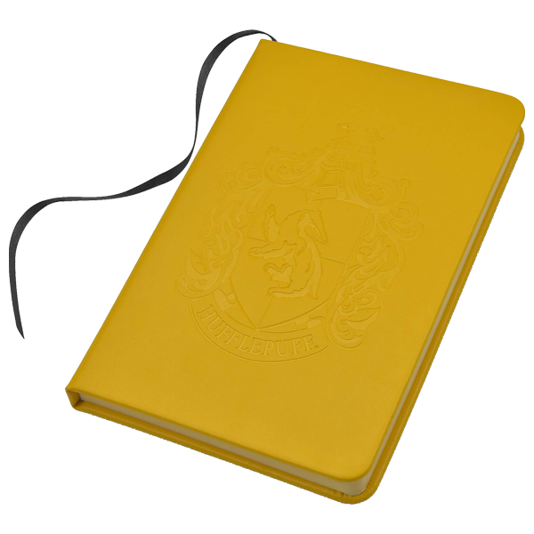 Personalised Hufflepuff Embossed Notebook