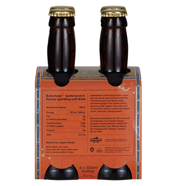 Bottled Butterbeer 4-Pack