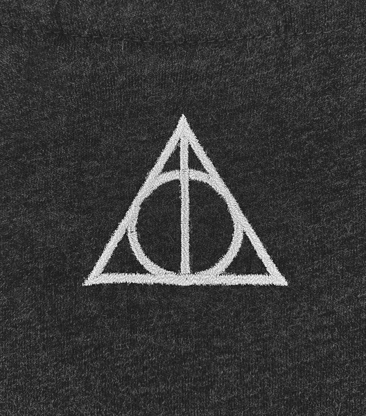 Deathly Hallows Smoky Charcoal T-Shirt