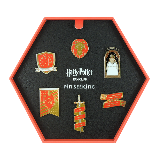First Edition Gryffindor Enamel Pin Set