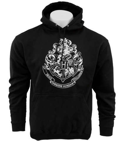 Black Hogwarts Crest Hooded Jumper