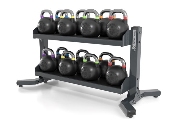 Competition Kettlebell Set With Rigid Rack *2 ULLSS11 by  The Iron Den