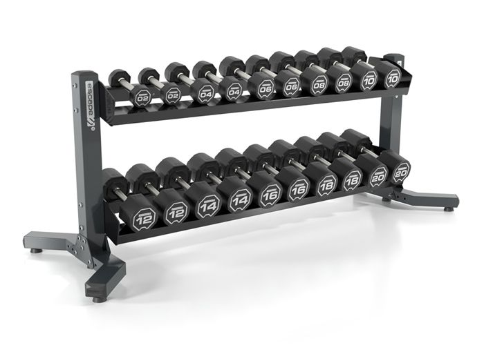 Nucleus Urethane Dumbbells With Rigid Rack by  The Iron Den