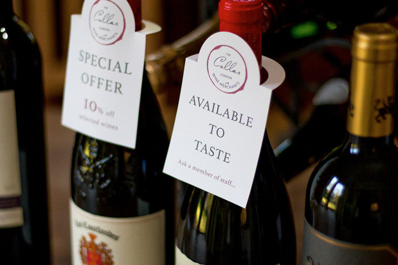 print your own point of sale displays for wine merchants