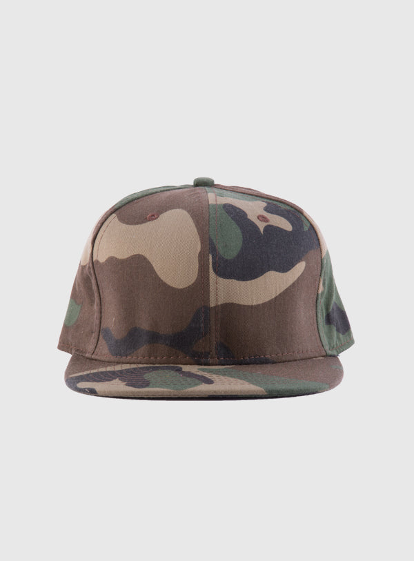 Camouflage snap back cap (customize your design)