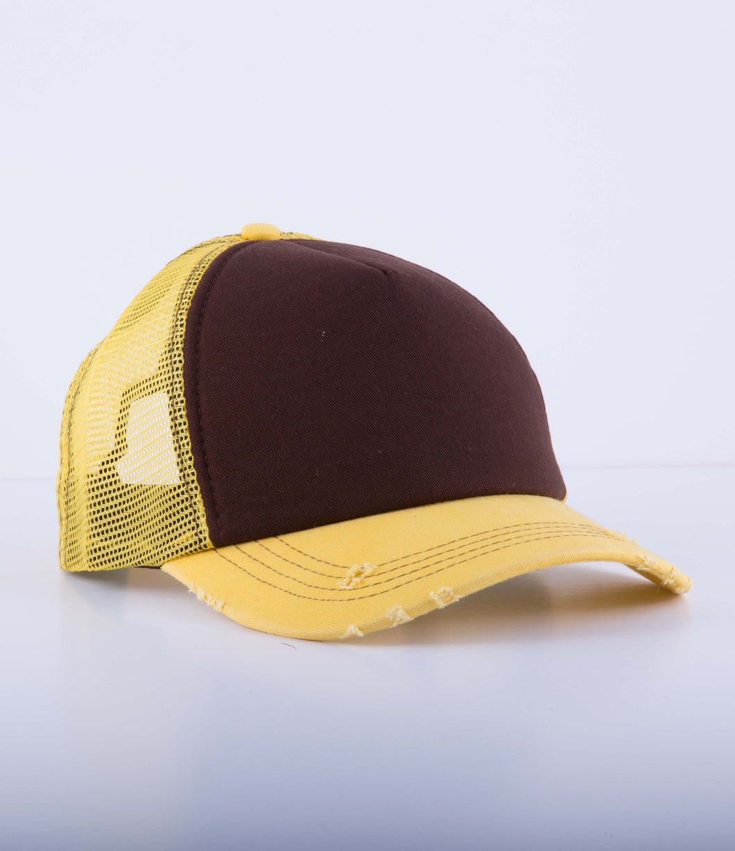 Yellow mesh cap (customize your design)