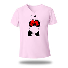 Load image into Gallery viewer, Panda boxing V Neck