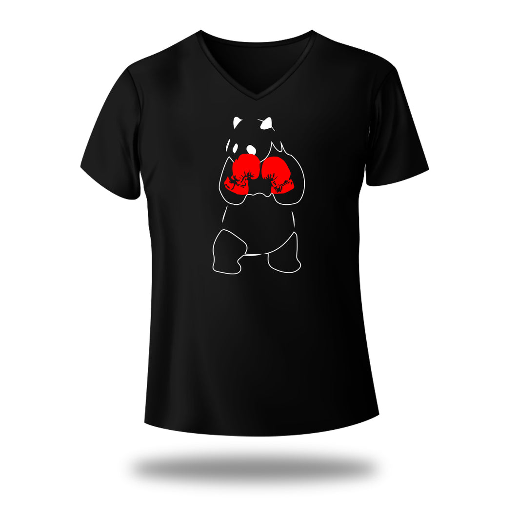 Panda boxing V Neck